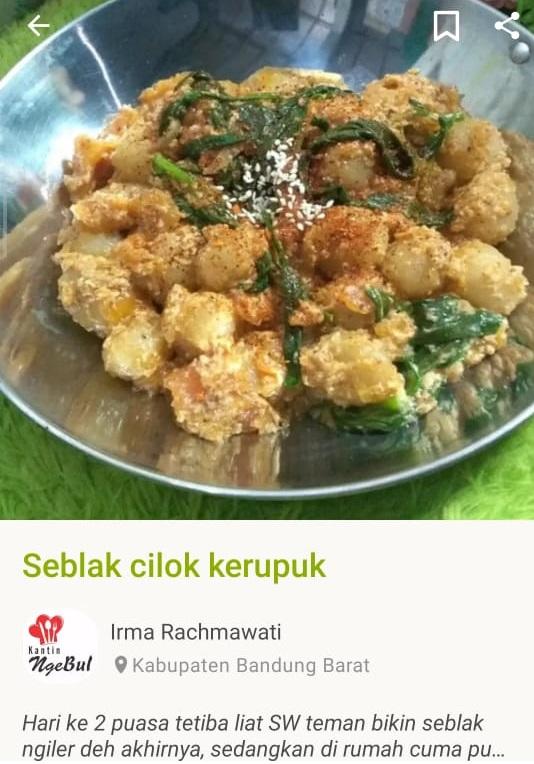 Biasanya ketemu pas jajan, sekarang bisa bikin Cilok Seblak sendiri di rumah   cookpad.com/id
