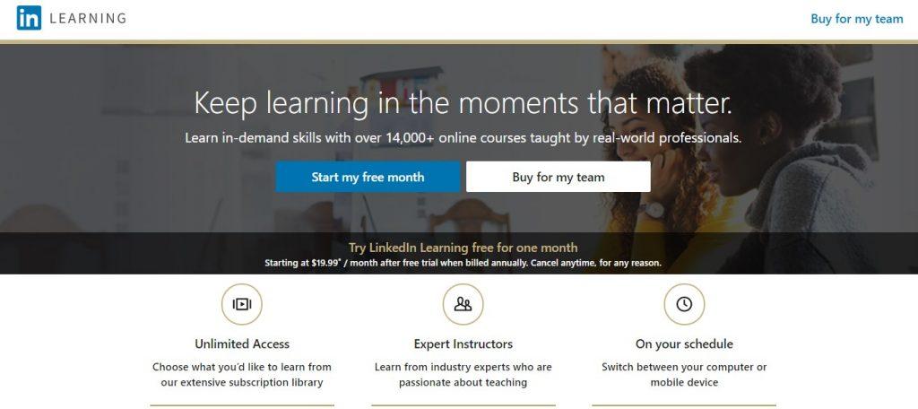 Asah skill profesionalmu di Linkedin Learning