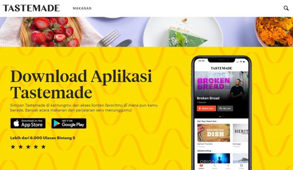 Banyak resep baru tiap harinya yang bisa ditemui di Tastemade   id.tastemade.com