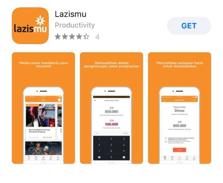 Lazismu, Aplikasi Bayar Zakat